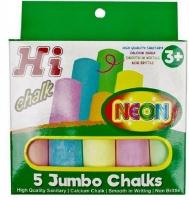 Kid Art Hi Chalk Neon 5 Jumbo Chalks Photo