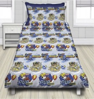 Paw Patrol 'Mighty Pups' Toddler Comforter Set - Size 100 x 140cm Photo