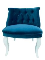 Decorist Home Gallery Lorenzo - Blue Velvet Armchair Photo