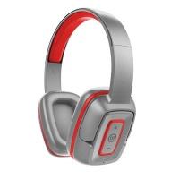Maxell EB-BT300 Bluetooth Hook Headphones - Red Silver Photo