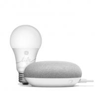 Google - Home Mini and Smart Light Combo Photo