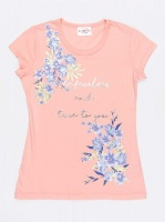 Girls POP CANDY Printed Tee Pale Pink Photo