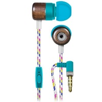 Maxell Wooden Deep Bass Silicon Earphones with Mic and braided cable - HIP Photo