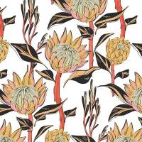 SoGood Candy Medium Zip Purse Artistic Protea PU Photo