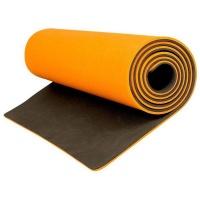 2 Tone Yoga Mat Reversible - Orange/Black Photo
