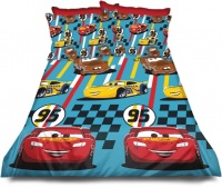 Disney Cars Reversible Single 2 pieces Lightening Fast Duvet Cover Set Photo