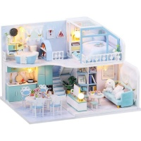 DIY Educational Furniture House Toy Wooden Miniature Doll House Photo