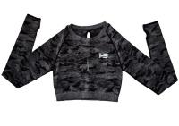Motivate Shape Women's Seamless Long Sleeve Camo Crop Top Photo
