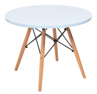 Dining Table with Wooden Legs Photo
