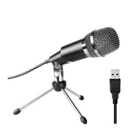 Fifine Uni-Directional USB Condensor Microphone with Tripod K668 - Black Photo