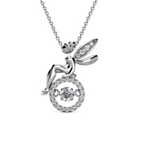 Destiny Fairy necklace with Swarovski Crystals Photo