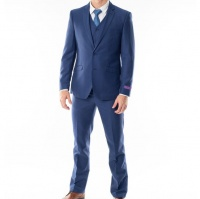 Men's Bates 3 Piece Suit - Marco Benetti - Blue Photo