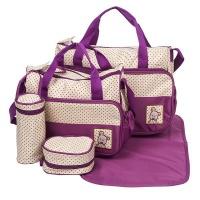 Rex M 5-in-1 Multifunctional Diaper Bag - Purple Photo