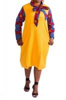 Yellow Boity Flare Dress Photo