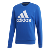 adidas - Men's Must Haves Badge-Of-Sports Crew Sweatshirt - Blue Photo