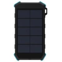 SolarMate 20 000mAh Powerbank With Wireless Charging & LED Light - Orange Photo