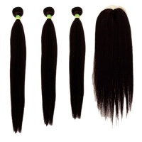 18 20 22 Free Closure Straight Synthetic Package Color 2 Photo