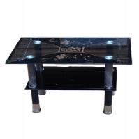 Black Glass Coffee Table Photo