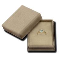 Shimansky 14KY Clover Shape Blue Topaz Fancy Gem Solitaire Ring Photo