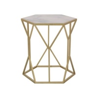 H Design H-Design Mateo Side Table Marble Top 43x37 Photo