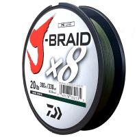 Daiwa J-Braid X8 Dark Green 20LB .23MM 300m Spool Photo