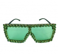 Cubana Diamond Sunglasses Women Men Sunglass - Honolulu - Green Photo