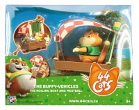 44 Cats Figure & Vehicle - The Rolling Boat & Meatball Photo