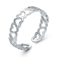 925 Sterling Silver Heart Ring Photo