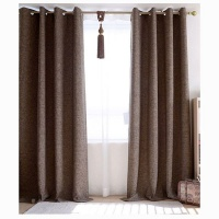 Matoc Readymade Curtain 140cmWx233cmH -Textured -Eyelet -SelfLined -Brown Photo