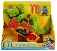 Mattel Imaginext Walking Croc & Pirate Hook playset with a Cannon Photo