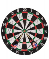 GetUp Flocked Dartboard And 6 Darts Photo