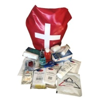 First Aid Kit Portable Waterproof Travel Bag - 132 Pieces Photo