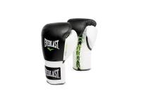 Everlast PowerLock Pro Laced Training Gloves - Black & White - 18oz Photo