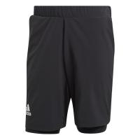 adidas - Men's 2-N-1 Shorts Heat.Ready Shorts- Black Photo