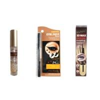 Kiss Beauty 3D Max Dense Mascara and Eyelash Growth Gel and Double Eyeliner Stamp Photo