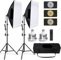 Floxi 170W LED Studio Softbox Light Kit Photo