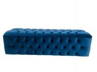 Decorist Home Gallery Ottoman - Rectangle Blue Storage Photo