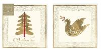 AK 10 Dove & Tree Designed Christmas Cards Photo