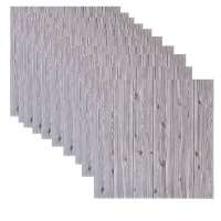 HEARTDECO Self-Adhesive 3D Foam Wallpaper Wood Grain Wall Panels-10 piecess Pack Photo