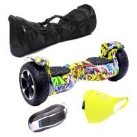 "Self Balance Scooter 8.5"" Hoverboard-Off-Road-LED-Remote-Bag-Mask-Graffiti Photo"