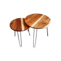Spitfire Furniture Nesting Tables - Blackwood Coffee Photo