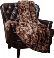 Wonder Towel Wonder Trend Faux Fur Luxury Mink Thermal Heat Blanket Throw Turquoise Blue Photo