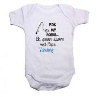 Qtees Africa -Pack my doeke ek gaan saam met pa visvang baby grow Photo