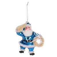 AK Blue Santa Christmas Decoration Photo