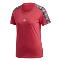 adidas - Women's Essential Tape Tee - Maroon Photo