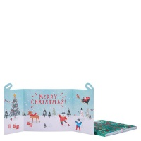 AK Fold Out Present Christmas Cards - Pack of 6 Photo