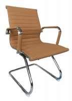 The Office Chair Corp TOCC Camel Ribbed Visitors' Office Chairs - Set of 2 per box Photo