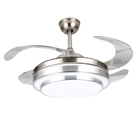 Dr Light Drlight Fashion 4 Blade Ceiling Fan With Extendable Blades and Light 9102# Photo