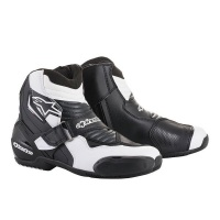 Alpinestars - SMX 1 Motorcycle Boots - Black/White Graphic Photo