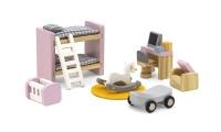 Viga - Doll House Kid's Bedroom Furniture Playset Photo